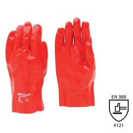 WORKSafe® RED PVC FULLY COATED GLOVE