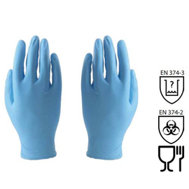 WORKSafe® 9-INCH DISPOSABLE NITRILE GLOVES (POWDER FREE)