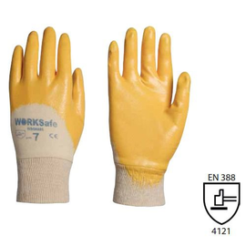 WORKSafe® SOLVODEX SUPER-LIGHT NITRILE GLOVES, COTTON-LINED (KNIT-WRIST)