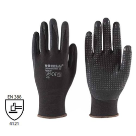 WORKSafe® NITRILE MICRO-FOAM SEAMLESS DOTTED NYLON LINER GLOVES