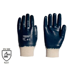 WORKSafe® SOLVOTRIL NITRILE GLOVES, JERSEY COTTON (KNIT-WRIST)