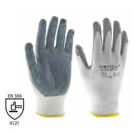 WORKSafe® NITRILE FOAM SEAMLESS NYLON LINER GLOVES